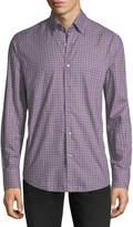 Neiman Marcus Flannel Check-Print Sport Shirt