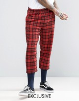 Reclaimed Vintage Inspired Relaxed Trousers In Check