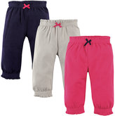 Hudson Baby Hot Pink & Navy Joggers Set - Infant