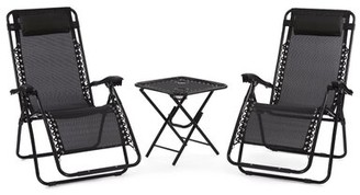 Zero Gravity Koopman Decor Reclining/Folding Chair Latitude Run Color: Black
