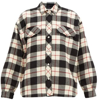 Miu Miu Checked Single-breasted Wool Jacket - Womens - Black Multi