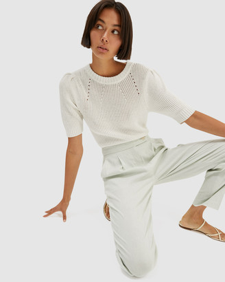 SABA Women's White Jumpers & Cardigans - Holly Cotton Cord Knit - Size One Size, S at The Iconic