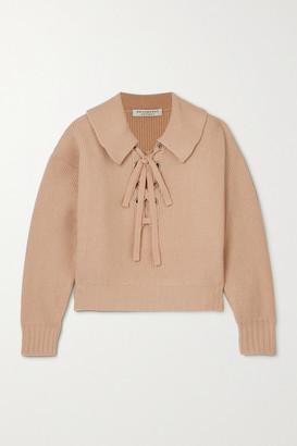 Philosophy di Lorenzo Serafini Lace-up Ribbed Wool Sweater