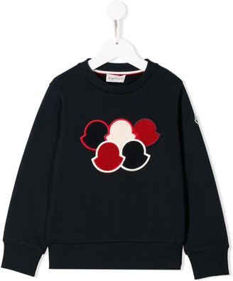 Moncler Enfant Embroidered Logo Sweatshirt