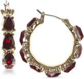 Nine West Faceted Stone Hoop Earrings