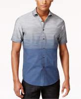 INC International Concepts Men's Zeddie Ombre Stripe Short-Sleeve Shirt, Created for Macy's