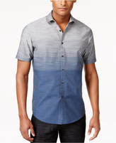 INC International Concepts Men's Zeddie Ombré Stripe Short-Sleeve Shirt, Only at Macy's