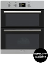 Hotpoint DU2540IX 60cm Electric Built-Under Double Oven With Optional Installation - Stainless Steel