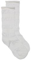 HUE Stripe Slouch Womens Crew Socks
