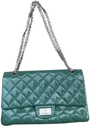 Chanel 2.55 Green Patent leather Handbags