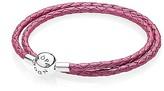 Pandora Honeysuckle Leather Double Wrap Bracelet
