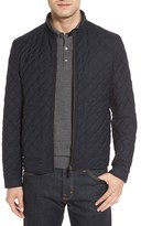 Luciano Barbera Men's Diamond Quilted Wool Blend Water-Repellent Moto Jacket
