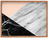 DENY Designs Marble Collage Large Rectangular Tray