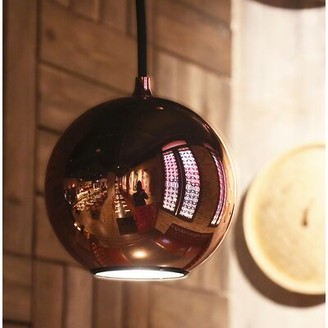 Innermost Boule 1 - Light Single Globe Pendant Color: Black