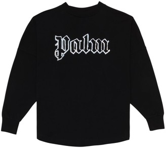 Palm Angels Long-Sleeve Logo Cotton T-Shirt