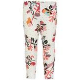 Catimini CatiminiBaby Girls Ivory Floral Print Leggings