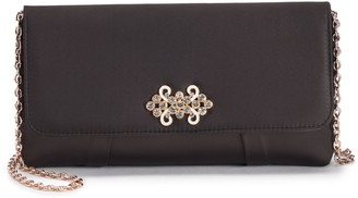 La Regale Lenore By Lenore by Brooch Satin Flap Clutch