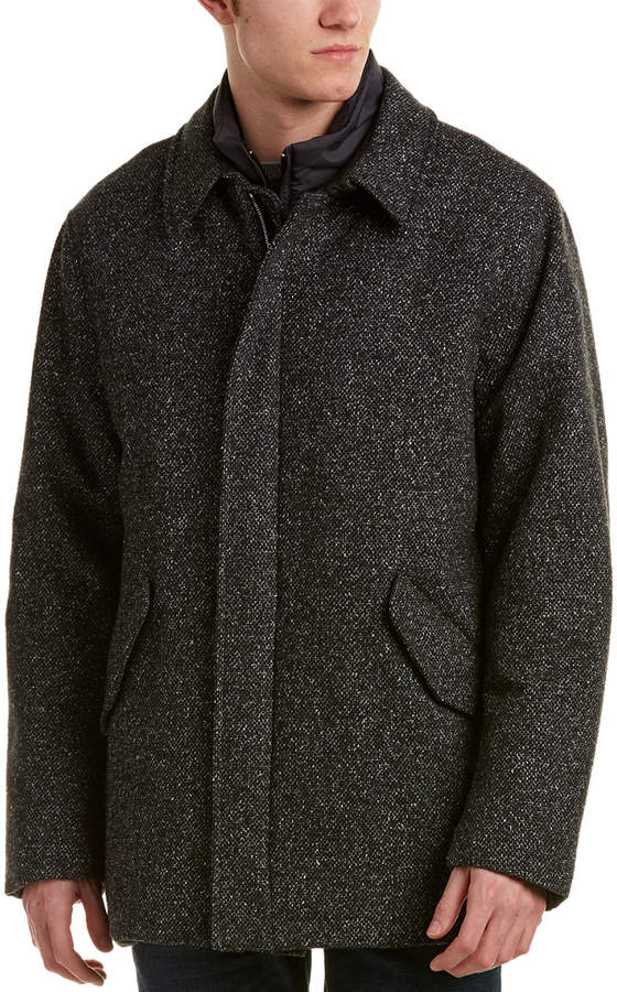 Canali Wool & Silk-Blend Car Coat