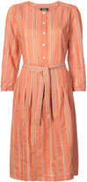 A.P.C. striped tie waist dress