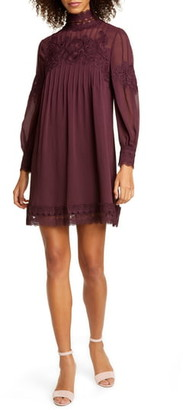 Ted Baker Anneah High Neck Lace Long Sleeve Tunic Dress