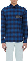 Givenchy Men's Plaid Flannel Shirt-NAVY