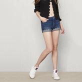 Maje Denim shorts with decorative trim