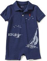 Ralph Lauren Baby Boys 3-24 Months Nautical Printed Mesh Shortall