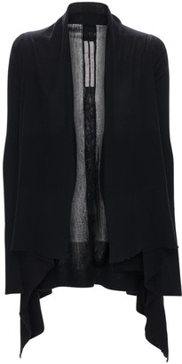 Rick Owens Sheer Wool Rib Knit Cardigan
