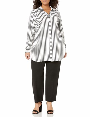 Foxcroft Women's Plus Size Button Front Shirt
