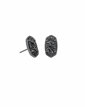 Kendra Scott Ellie Gunmetal Stud Earrings in Black Drusy