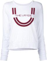 The Upside longsleeved logo print T-shirt - women - Cotton - XXS