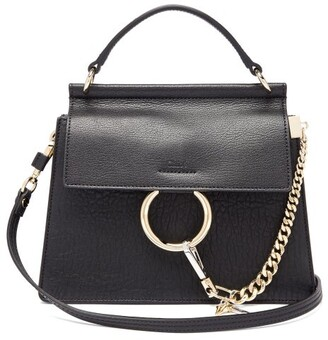 Chloé Faye Small Grained-leather Cross-body Bag - Womens - Black
