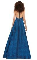 Alice + Olivia Teifer Leather T-Back Gown