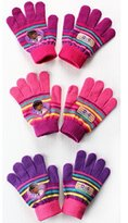 Disney Doc McStuffins Knitted 3 Assorted Gloves Kids Accessories
