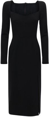 Dolce & Gabbana Stretch Jersey Long Dress W/Slit