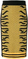 Kenzo tiger knit pencil skirt
