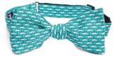 Vineyard Vines Men's Blue Fish Print Silk Bow Tie