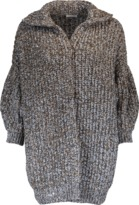 Brunello Cucinelli Chunky Paillette Ribbed Cardigan