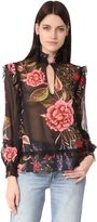 Nicholas Peony Floral Ruffle Shirt