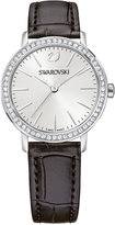 Swarovski Women's Swiss Graceful Mini Brown Leather Strap Watch 29mm 5261487
