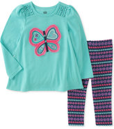 Kids Headquarters 2-Pc. Butterfly Tunic and Leggings Set, Little Girls (4-6X)