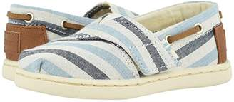 Toms Kids Kids Bimini (Toddler/Little Kid) (Navy Woven Stripe/Synthetic Trim) Boy's Shoes
