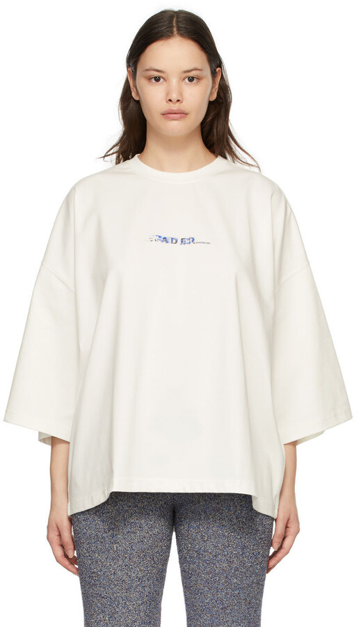 Thumbnail for your product : Ader Error White Oversized Logo T-Shirt
