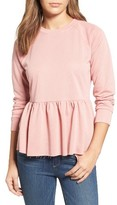 Women's Caslon Peplum Sweatshirt
