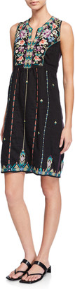 Johnny Was Maiorca Embroidered Tank Dress