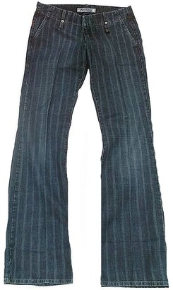 Fornarina Woman Jeans Blue Club Pinstripe Stripe Business Bootcut Flare Pant W27 L34