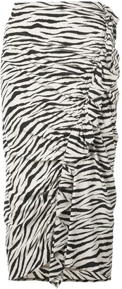 A.L.C. zebra print skirt