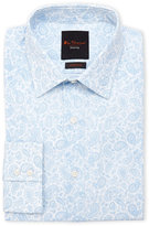 Ben Sherman Light Blue & White Stretch Dress Shirt