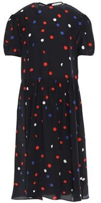 Être Cécile Dots All Over Amber Polka-dot Crepe De Chine Midi Dress