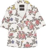 House of Holland Floral-Print Denim Shirt